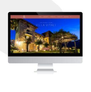 imac con sito web villa privata Lago di Como