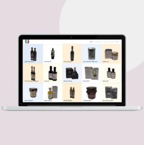 macbook pro con sito ecommerce prodotti italiani